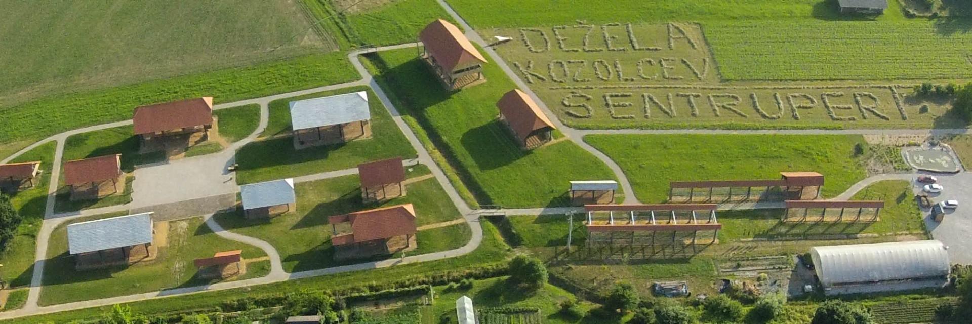 Muzej kozolcev iz zraka