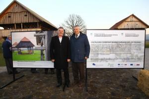 Rupert Gole in Matjaž-Tičo Župančič na odprtju razstave_Foto_Franc Pepelnak
