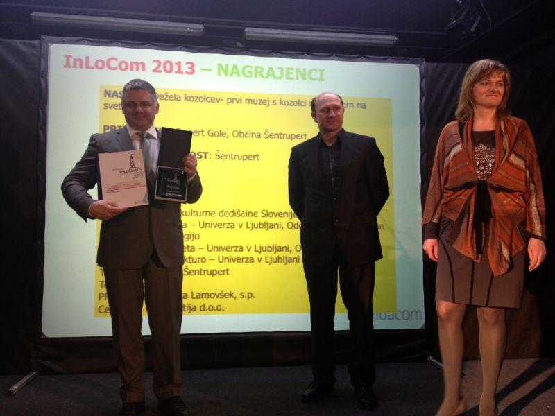 bčina Šentrupert dobila priznanje za inovativni projekt Dežela kozolcev