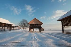 zima v Deželi kozolcev